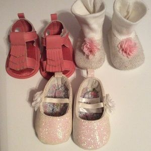 3~Adorable baby girl shoes